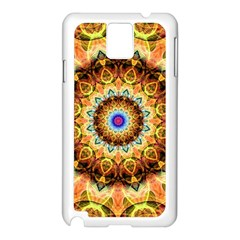 Ochre Burnt Glass Samsung Galaxy Note 3 N9005 Case (White)