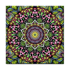 Psychedelic Leaves Mandala Ceramic Tile