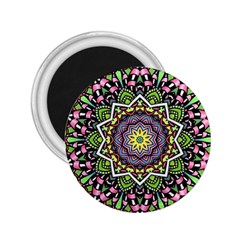 Psychedelic Leaves Mandala 2.25  Button Magnet