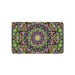 Psychedelic Leaves Mandala Magnet (Name Card)