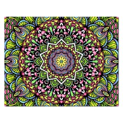 Psychedelic Leaves Mandala Jigsaw Puzzle (Rectangle)