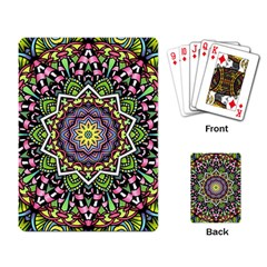 Psychedelic Leaves Mandala Playing Cards Single Design