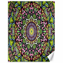 Psychedelic Leaves Mandala Canvas 18  x 24  (Unframed)