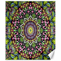 Psychedelic Leaves Mandala Canvas 20  X 24  (unframed)