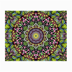 Psychedelic Leaves Mandala Glasses Cloth (Small, Two Sided)