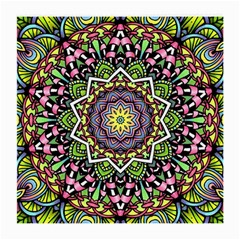 Psychedelic Leaves Mandala Glasses Cloth (Medium, Two Sided)