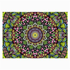 Psychedelic Leaves Mandala Glasses Cloth (Large, Two Sided)