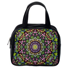 Psychedelic Leaves Mandala Classic Handbag (one Side)