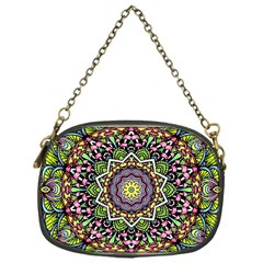 Psychedelic Leaves Mandala Chain Purse (One Side)