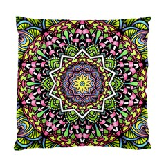 Psychedelic Leaves Mandala Cushion Case (single Sided)