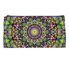 Psychedelic Leaves Mandala Pencil Case