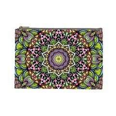 Psychedelic Leaves Mandala Cosmetic Bag (Large)