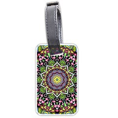 Psychedelic Leaves Mandala Luggage Tag (One Side)