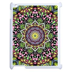 Psychedelic Leaves Mandala Apple iPad 2 Case (White)