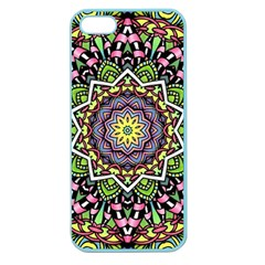 Psychedelic Leaves Mandala Apple Seamless iPhone 5 Case (Color)