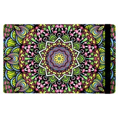 Psychedelic Leaves Mandala Apple iPad 3/4 Flip Case