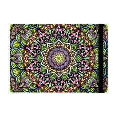 Psychedelic Leaves Mandala Apple Ipad Mini Flip Case