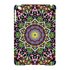 Psychedelic Leaves Mandala Apple iPad Mini Hardshell Case (Compatible with Smart Cover)