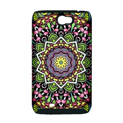 Psychedelic Leaves Mandala Samsung Galaxy Note 2 Hardshell Case (PC+Silicone)