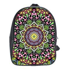 Psychedelic Leaves Mandala School Bag (XL)