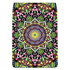 Psychedelic Leaves Mandala Removable Flap Cover (Large)