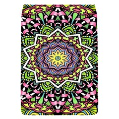 Psychedelic Leaves Mandala Removable Flap Cover (small)