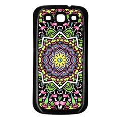 Psychedelic Leaves Mandala Samsung Galaxy S3 Back Case (Black)