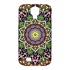 Psychedelic Leaves Mandala Samsung Galaxy S4 Classic Hardshell Case (PC+Silicone)