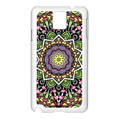 Psychedelic Leaves Mandala Samsung Galaxy Note 3 N9005 Case (White)