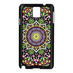 Psychedelic Leaves Mandala Samsung Galaxy Note 3 N9005 Case (Black)