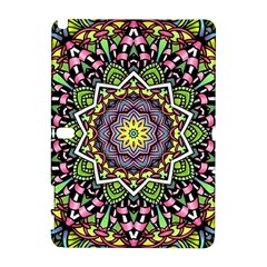 Psychedelic Leaves Mandala Samsung Galaxy Note 10.1 (P600) Hardshell Case