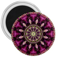 Purple Flower 3  Button Magnet