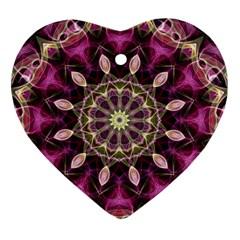 Purple Flower Heart Ornament