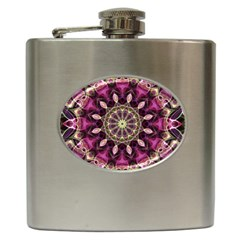 Purple Flower Hip Flask