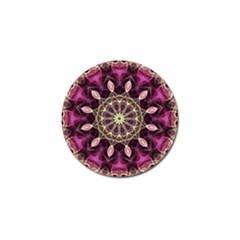 Purple Flower Golf Ball Marker