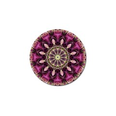 Purple Flower Golf Ball Marker 4 Pack