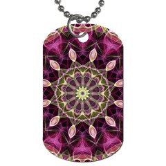 Purple Flower Dog Tag (Two-sided)