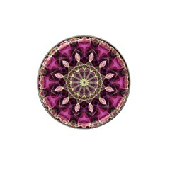 Purple Flower Golf Ball Marker (for Hat Clip)