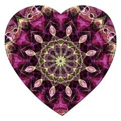 Purple Flower Jigsaw Puzzle (Heart)