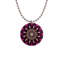 Purple Flower Button Necklace