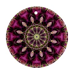 Purple Flower Round Ornament (Two Sides)