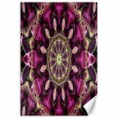 Purple Flower Canvas 20  X 30  (unframed)