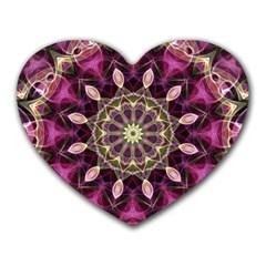 Purple Flower Mouse Pad (Heart)