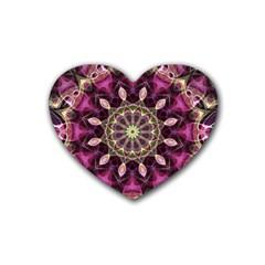 Purple Flower Drink Coasters (Heart)