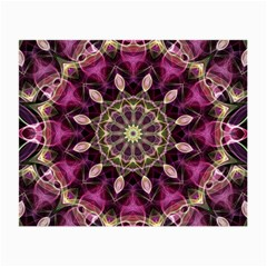 Purple Flower Glasses Cloth (Small, Two Sided)