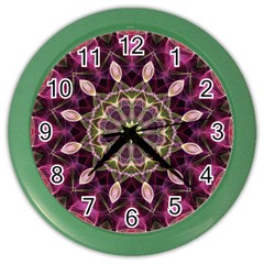 Purple Flower Wall Clock (Color)