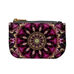 Purple Flower Coin Change Purse