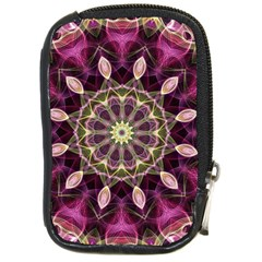 Purple Flower Compact Camera Leather Case