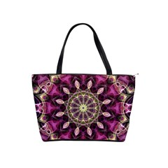 Purple Flower Large Shoulder Bag