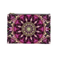 Purple Flower Cosmetic Bag (large)